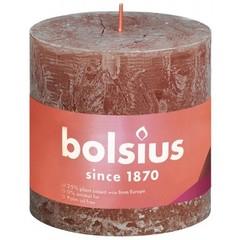 Bolsius Rustiek stompkaars shine 100/100 suede brown (1 stuks)