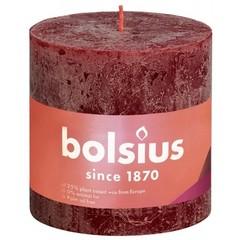 Bolsius Rustiek stompkaars shine 100/100 velvet red (1 stuks)