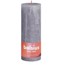 Bolsius Rustiek stompkaars shine 190/68 frosted lavender (1 stuks)