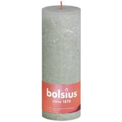 Bolsius Rustiek stompkaars shine 190/68 foggy green (1 stuks)