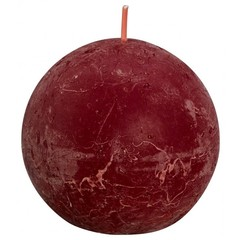 Bolsius Rustiek bolkaars shine 76 velvet red (1 stuks)