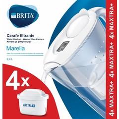 Brita Waterfilterbundel Marella cool white + 4 filterpat (1 set)