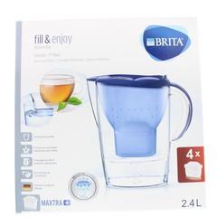 Brita Waterfilterbundel Marella cool blue + 4 maxtra fil (1 set)