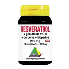 SNP Resveratrol curcuma gebufferd vit C bioperine puur (60 vcaps)