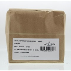 Jacob Hooy Pepermuntblad gesneden brunch (250 gram)