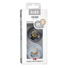 Bibs Fopspeen iron/baby blue maat 1 (2 stuks)