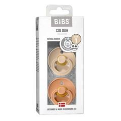 Bibs Fopspeen vanilla/peach maat 1 (2 stuks)