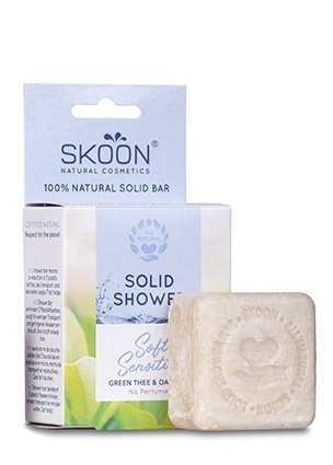 Skoon Solid shower soft & sensitive (90 gram)
