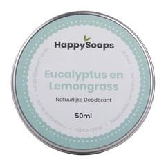Happysoaps Deo natural eucalyptus en lemongrass (50 gram)