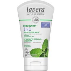 Lavera Pure Beauty 3in1 reiniger - peeling - masker (125 ml)