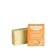 La Saponaria Handzeep calendula tarwekiem (100 gram)
