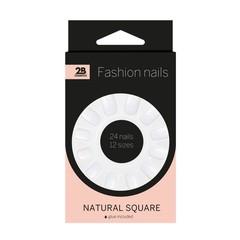 2B Nails natural square (24 stuks)