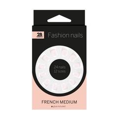 2B Nails french medium (24 stuks)