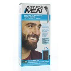 Just For Men Snor & baard donkerbruin M45 (24 gram)
