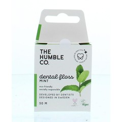 The Humble Co Dental floss fresh mint 50 meter (1 stuks)