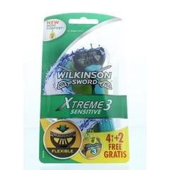 Wilkinson Xtreme III sensitive 4 + 2 (6 stuks)