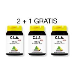 SNP CLA 400 mg puur actie 2 + 1 gratis (180 capsules)
