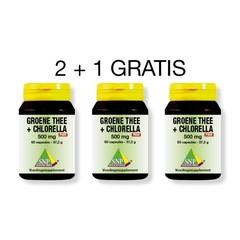 SNP Groene thee chlorella 500 mg 2 + 1 (180 capsules)