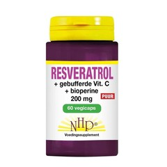 NHP Resveratrol 200 mg/Vitamine C/Bioperine puur (60 vcaps)