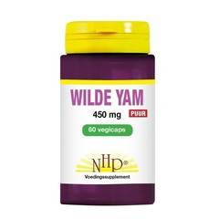 NHP Wilde yam 450 mg puur (60 vcaps)