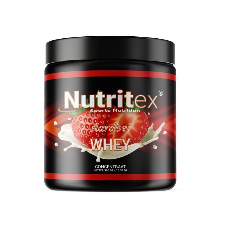 Nutritex Whey proteine aardbei (300 gram)