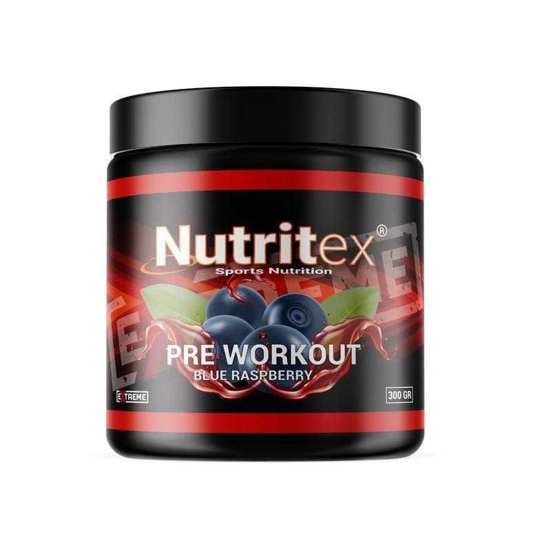 Nutritex Pre workout blue raspberry extreme (300 gram)