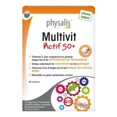 Physalis Multivit actif 50+ (30 tabletten)