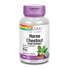 Solaray Aesculus paardenkastanje 400 mg (120 vcaps)