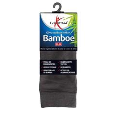 Lucovitaal Bamboe sok lang antraciet 35-38 (1 paar)