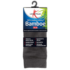 Lucovitaal Bamboe sok lang antraciet 35-38 (12 paar)