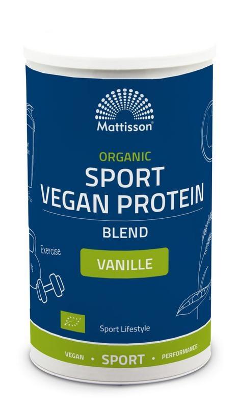Mattisson Organic sport vegan protein blend vanille (500 gram)