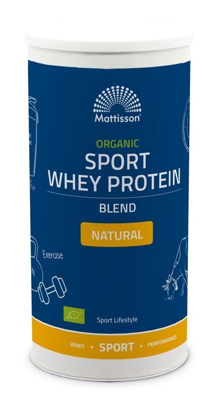 Mattisson Organic sport whey protein blend natural (450 gram)