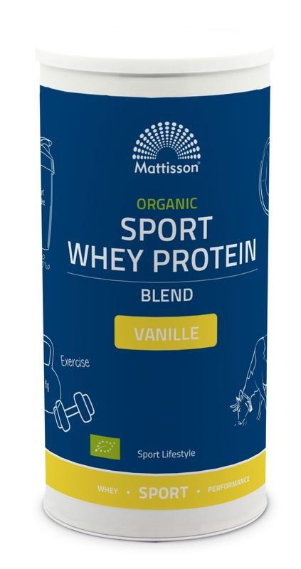 Mattisson Organic sport whey protein blend vanille (450 gram)