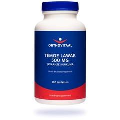 Orthovitaal Temoe lawak 500 mg (180 tabletten)