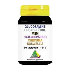 SNP Glucosamine chondro MSM hyaluron curcum boswellia (90 tabletten)