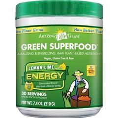 Amazing Grass Green superfood energy lemon & lime (210 gram)