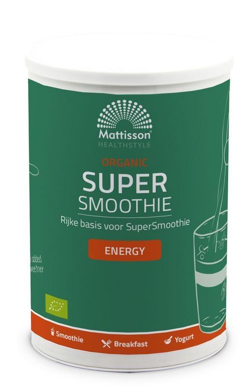 Mattisson Organic supersmoothie energy bio (500 gram)