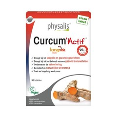 Physalis Curcum actif (30 tabletten)