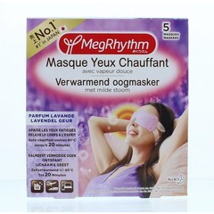 Megrhythm Warm oogmasker lavendel (5 stuks)