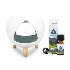 CHI Cozy aromabrander + Davos olie (1 set)