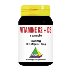SNP Vitamine K2 D3 zalmolie (60 capsules)
