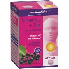 Mannavital Vitamine C plus zink (60 tabletten)
