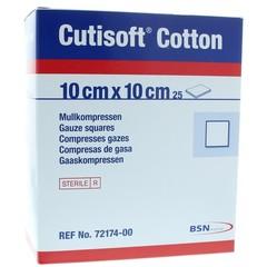 Cutisoft Cotton steriel 10 x 10 cm (25 stuks)