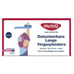 Heltiq Detect vingerpleister lang textiel 180 x 20 (100 stuks)