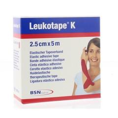 Leukotape Leukotape K 5 m x 2.5 cm rood (1 stuks)