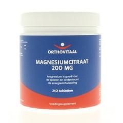 Orthovitaal Magnesium citraat 200 mg (240 tabletten)