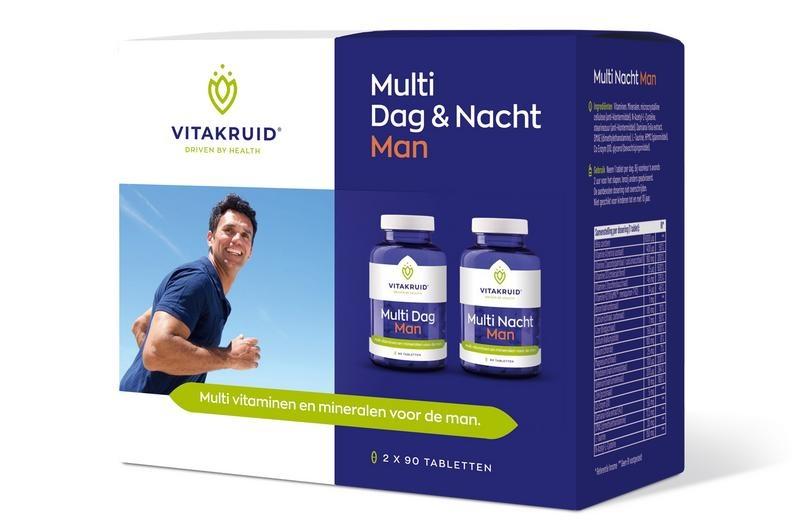 Vitakruid Multi dag & nacht man 2 x 90 (180 tabletten)
