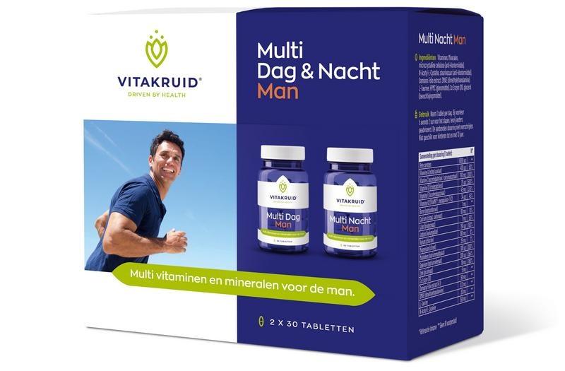 Vitakruid Multi dag & nacht man 2 X 30 stuks (60 tabletten)