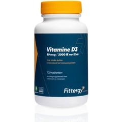 Fittergy Vitamine D3 50 mcg met zink (100 tabletten)