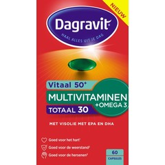 Dagravit Totaal 30 50+ omega (60 tabletten)